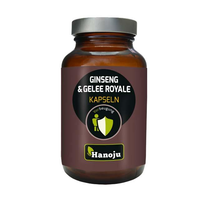 Био Екстракт от корен на Жен-шен (Panax Ginseng) 250 мг. + Био Пчелно млечице (Royal Jelly) 250 мг., 90 капсули